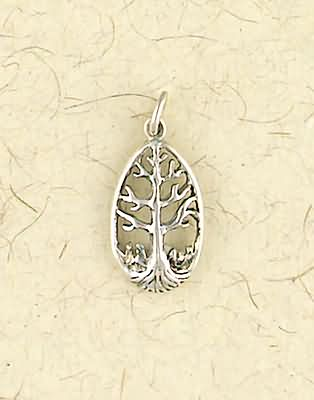 Small Sterling Silver Tree of Life Pendant