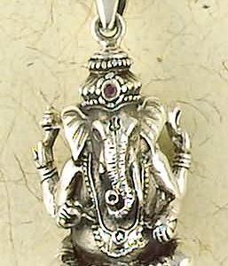 Sterling Silver Ganesha Pendant
