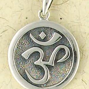 Sterling Silver Medium Om Pendant