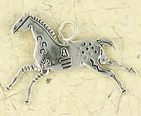 Sterling Silver Painted Pony Pendant