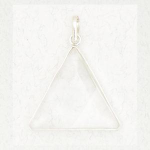 Faceted Triangle Quartz Pendant