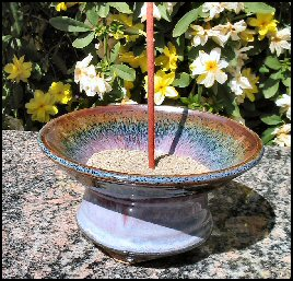 Flared Ceramic Smudge Bowl Sedona Moon