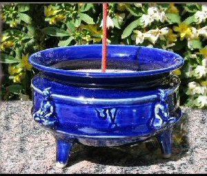 Four Directions Buddha Bowl Cobalt