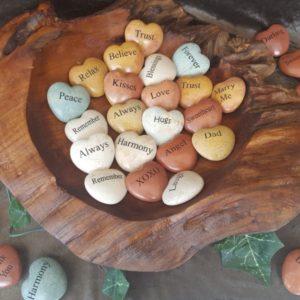 Polished Heart Stones
