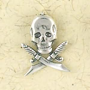 Sterling Silver Pirate Pendant